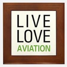 Live Love Aviation Framed Tile