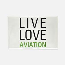 Live Love Aviation Rectangle Magnet