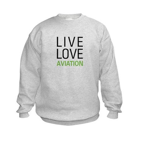 Live Love Aviation Kids Sweatshirt