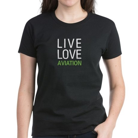 Live Love Aviation Women's Dark T-Shirt