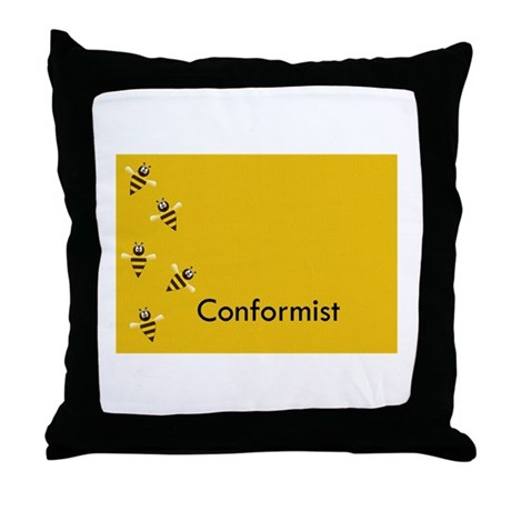 Conformist Throw Pillow
