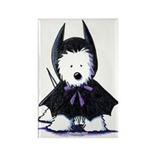 Batdog Westie Rectangle Magnet
