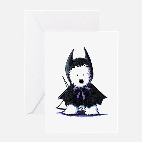 Batdog Westie Greeting Card