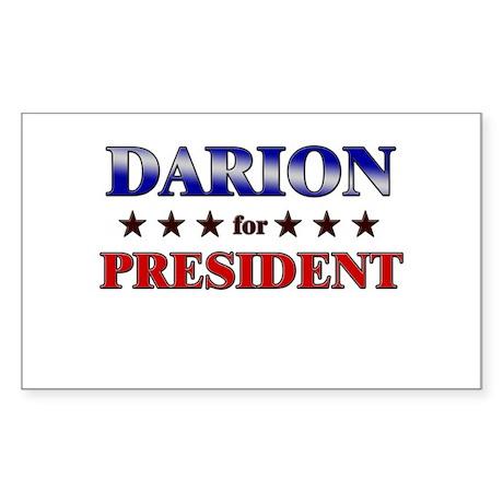 DARION for president Rectangle Sticker