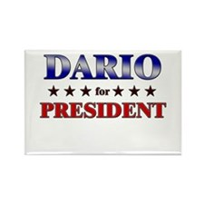 DARIO for president Rectangle Magnet