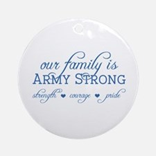 Our Family Ornament (Round)