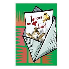 Joyeux Noel Masonically Postcards (Package of 8)