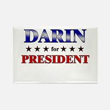 DARIN for president Rectangle Magnet