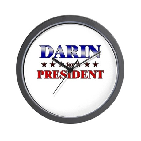 DARIN for president Wall Clock