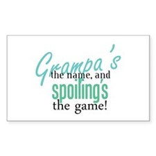 Grampa's the Name! Rectangle Decal