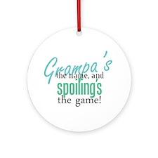 Grampa's the Name! Ornament (Round)