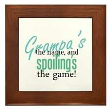 Grampa's the Name! Framed Tile