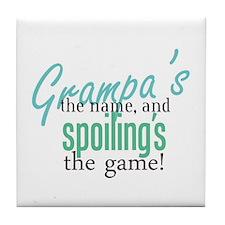 Grampa's the Name! Tile Coaster