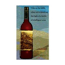 Ode To Wine Rectangle Decal