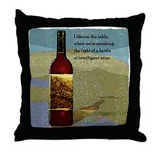 Ode To Wine Throw Pillow
