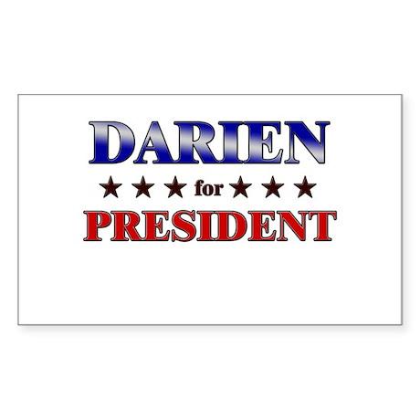 DARIEN for president Rectangle Sticker