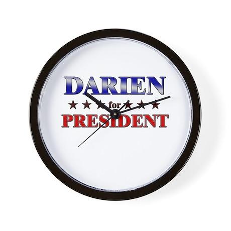 DARIEN for president Wall Clock