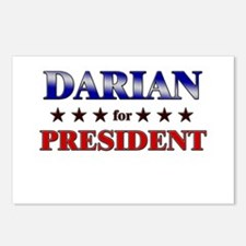 DARIAN for president Postcards (Package of 8)