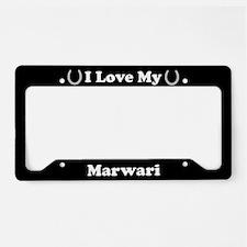 I Love My Marwari Horse License Plate Holder