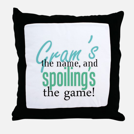 Gram's the Name! Throw Pillow