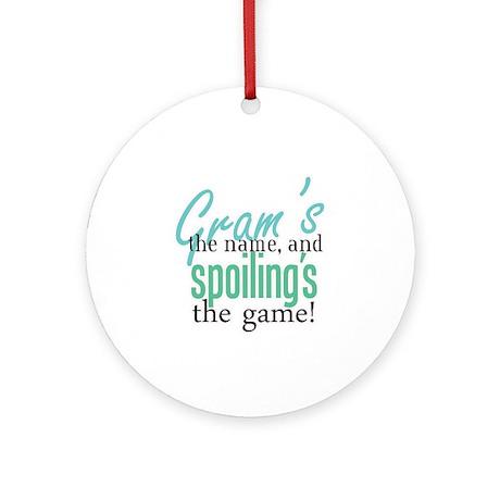 Gram's the Name! Ornament (Round)