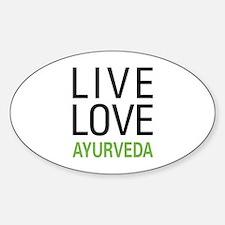 Live Love Ayurveda Oval Decal
