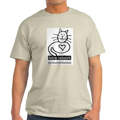 Feline Network Logo - BW Ash Grey T-Shirt