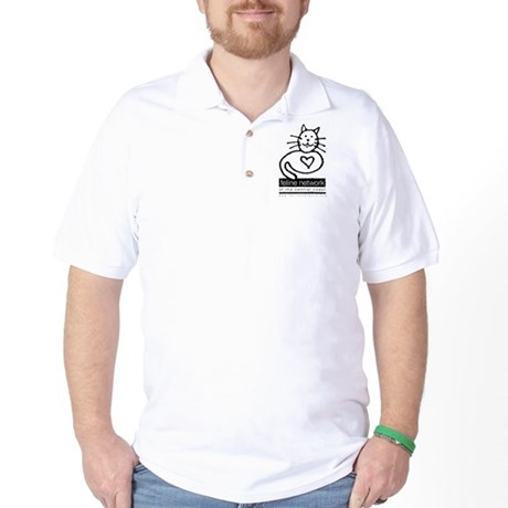 Feline Network Logo - BW Golf Shirt