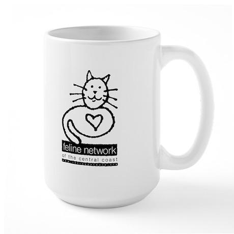 Feline Network Logo - BW Large Mug