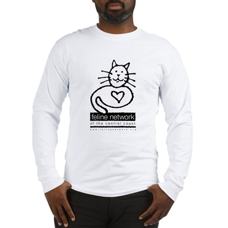 Feline Network Logo - BW Long Sleeve T-Shirt