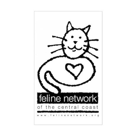 Feline Network Logo - BW Rectangle Sticker