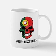 Portuguese Flag Skull (Custom) Mugs