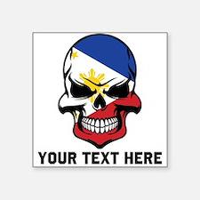 Filipino Flag Skull (Custom) Sticker