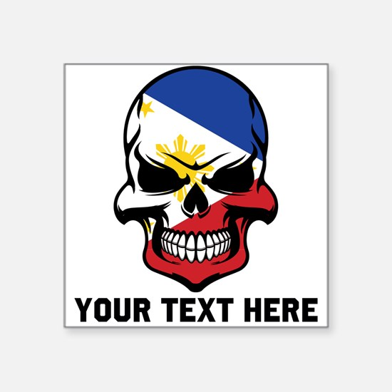 Filipino Flag Skull (Custom) Sticker