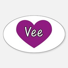 Vee Oval Decal