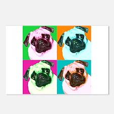 Pop Art Pug Postcards (Package of 8)