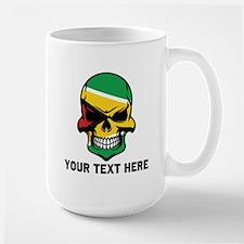 Guyanese Flag Skull (Custom) Mugs
