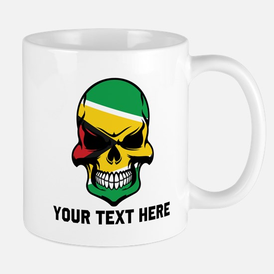 Guyanese Flag Skull (Custom) Mugs