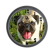 Happy Pug Wall Clock