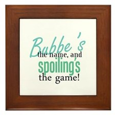 Bubbe's the Name! Framed Tile