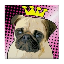 Pug Princess Tile Coaster