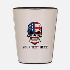 American Flag Skull (Custom) Shot Glass