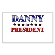 DANNY for president Rectangle Decal