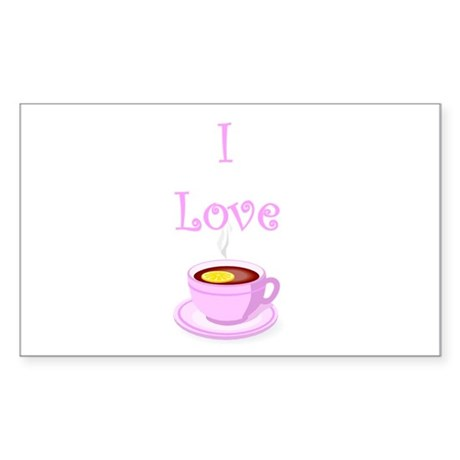 I love tea Rectangle Sticker