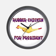 Rubber Chicken for President Wall Clock