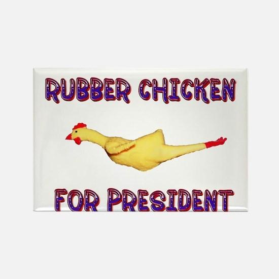 Rubber Chicken for President Rectangle Magnet