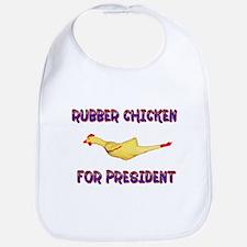 Rubber Chicken for President Bib