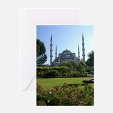 blue mosque Greeting Cards