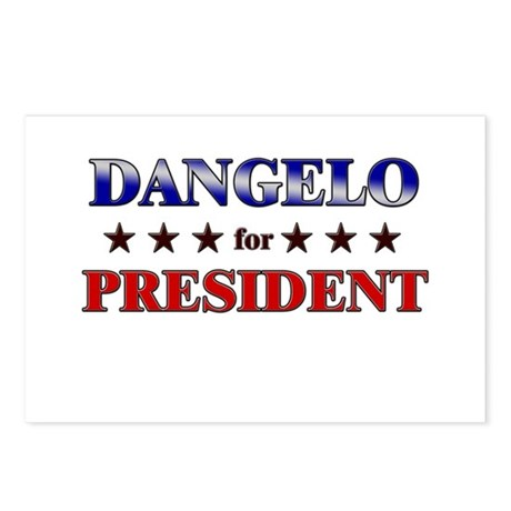 DANGELO for president Postcards (Package of 8)