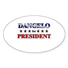 DANGELO for president Oval Decal